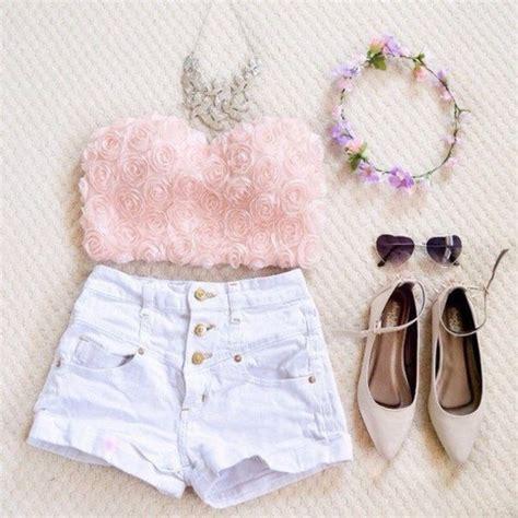 Flower Top Blouse Crop Top shirt crop tops pink flowers shoes tank top blouse