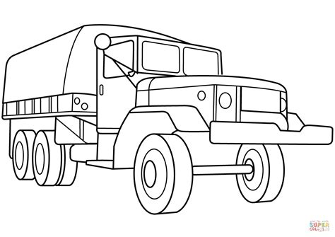 coloring pages of army trucks military troop transport truck coloring page free