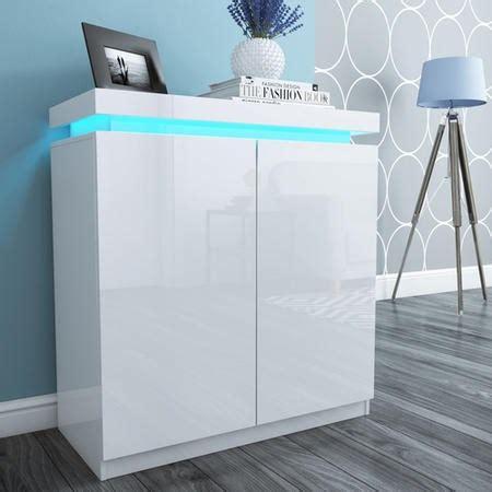 tiffany shoe cabinet  white high gloss  led lighting