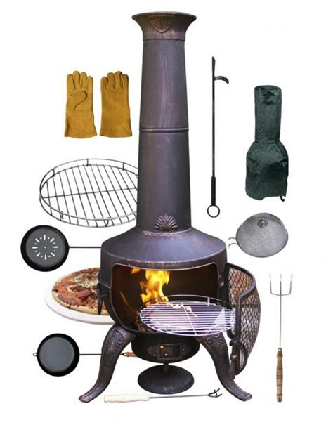 chiminea accessories gardeco bronze chiminea accessories h137cm 163 149 99