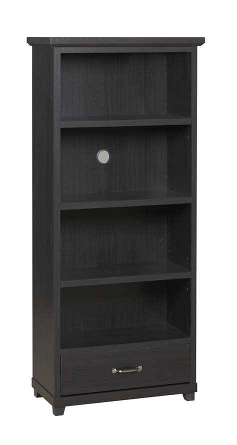 broyhill 4 shelf bookcase with drawer in espresso