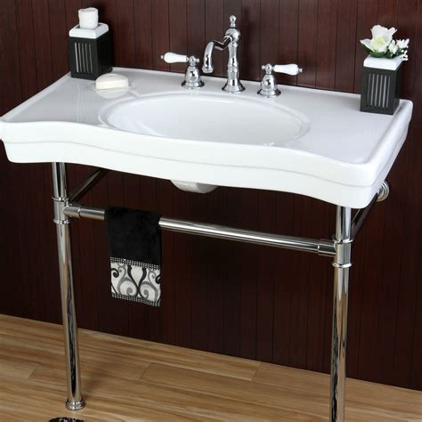 vintage style bathroom sink vintage style 36 inch wall mount chrome pedestal bathroom