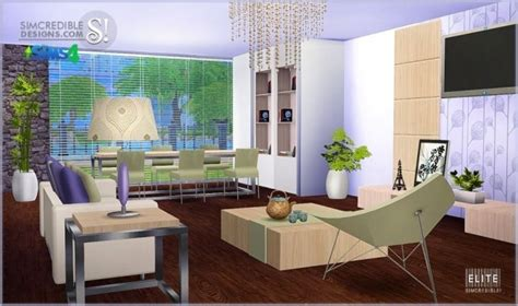 Elite Dining Room Furniture elite living diningroom at simcredible designs 4 187 sims 4