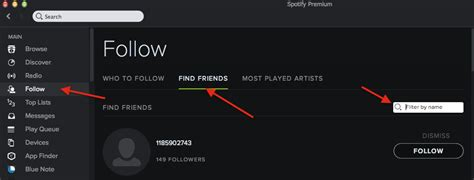 Find Spotify How To Follow A Specific Friend On Spotify Web Applications Stack Exchange