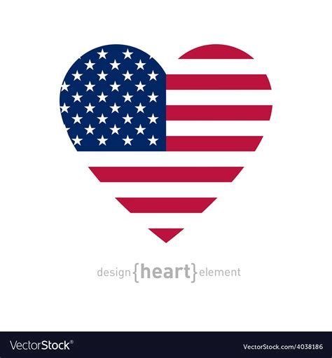 colors of american flag with american flag colors and symbol vector image