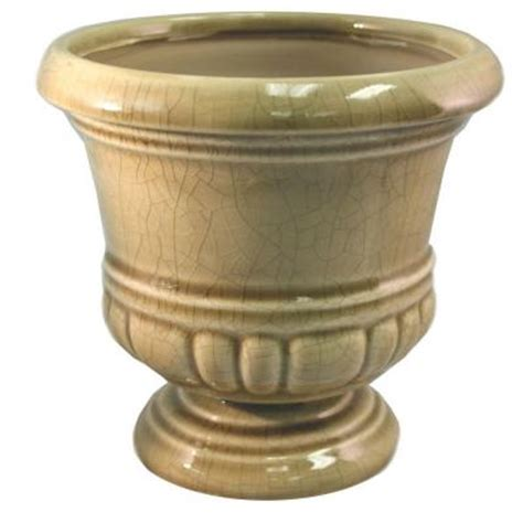 s pottery 6 in small crackle urn ceramic planter