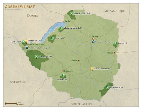 national parks game reserves  zimbabwe   list