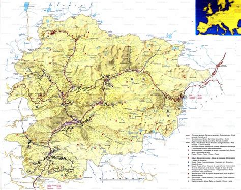 andorra on europe map index of country europe andorra maps
