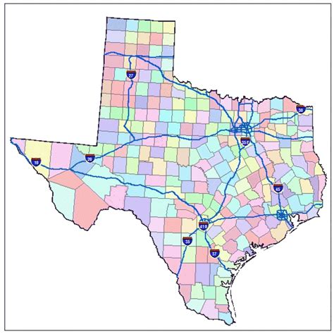 map of texas interstates texas map of cities images