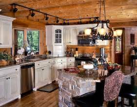 Log Home Kitchen Cabinets Whitewashed Birch Wood Cabinets Lighten The Wood Tones In