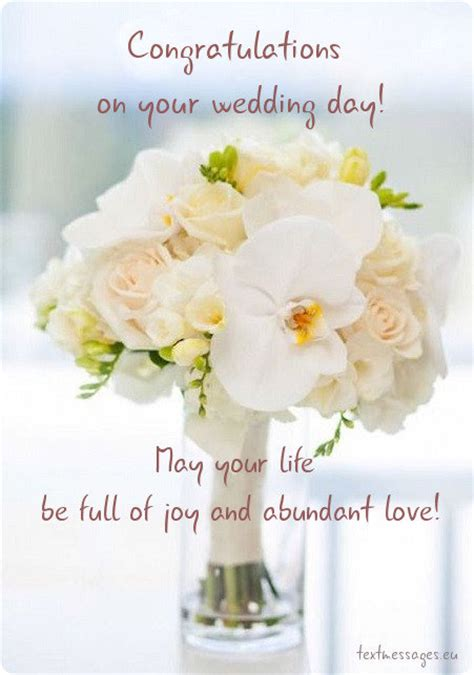 Wedding Wishes by Congratulations On Your Wedding Day Wishes Www Pixshark