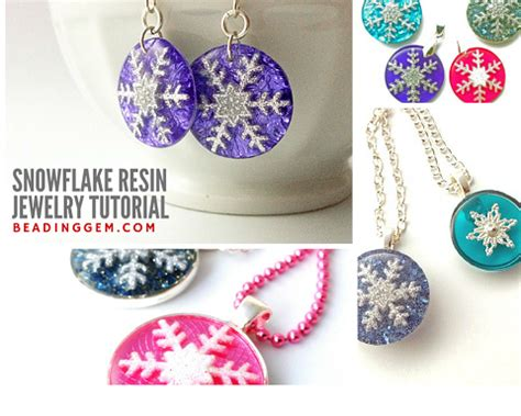 what do you need to make jewelry how to make snowflake resin jewelry tutorial the beading