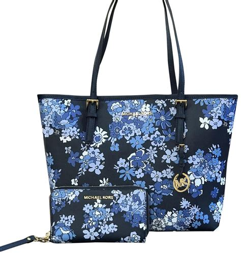 Bag A Bargain With This Flower Set by Michael Michael Kors 2 Pcs Jet Set Travel Carry All Flower