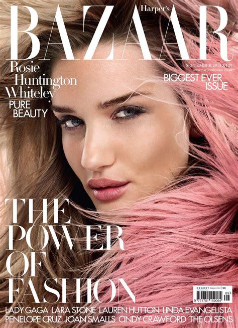In Harpers Bazaar by Rosie Huntington Whiteley S Bazaar Magazine Uk