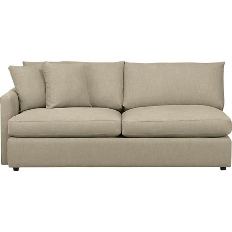 Lounge Left Arm Sectional Sofa Crate And Barrel