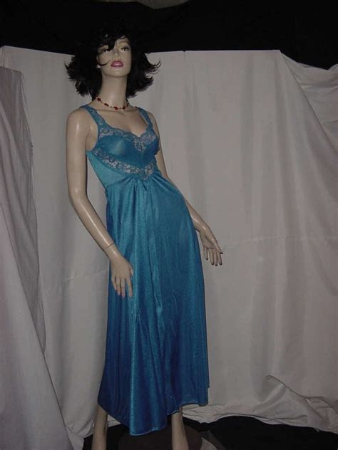 Floor Length Nightie by Eyeful Nightgown Royal Blue Size Small Floor Length Flare