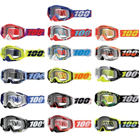 100 motocross goggles 100 racecraft mx anti fog clear lens motocross offroad