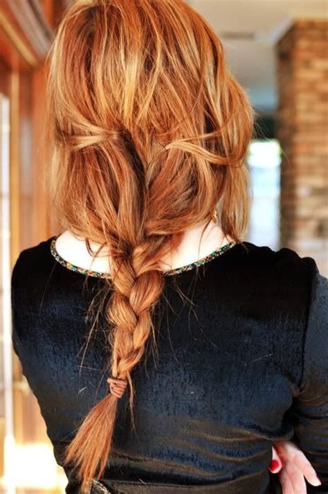 braided hairstyles red hair messy braid red hair fmag com