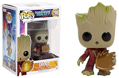 Funko Pop Marvel Guardians Of The Galaxy Groot Ravagers funko pop vinyl marvel guardians of the galaxy vol 2 baby groot with shield exclusive figure