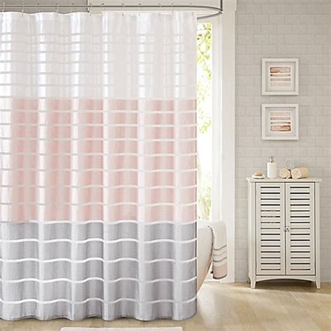 blush shower curtain demi shower curtain in blush bed bath beyond
