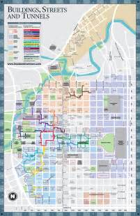 downtown texas map downtown tunnels houston map