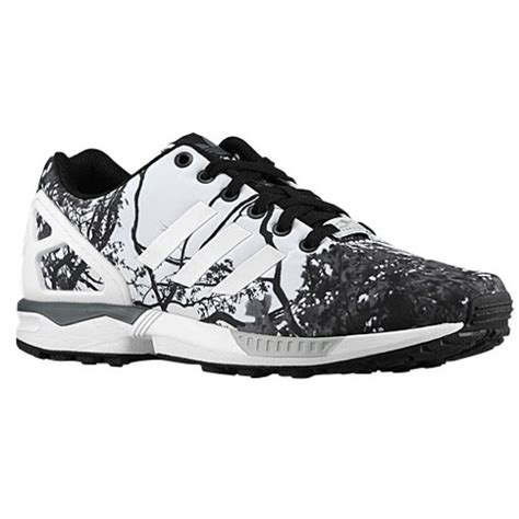 Adidas originals zx flux men s running shoes black white bold