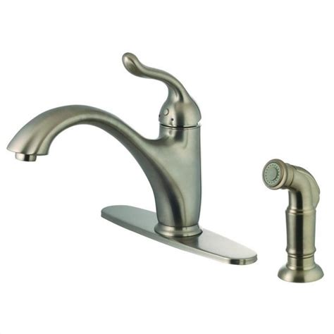 kitchen faucets brushed nickel yosemite 1 handle kitchen faucet with side sprayer in