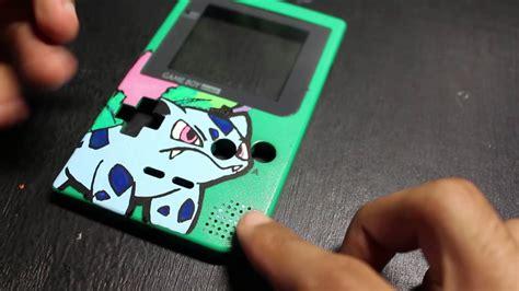 custom gameboy color custom painted gameboy pocket ivysaur pok 233 mon green