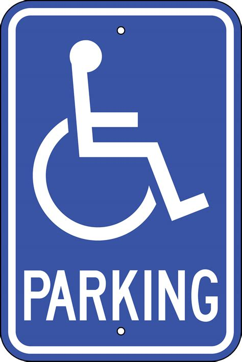 printable handicap parking signs free download clip art