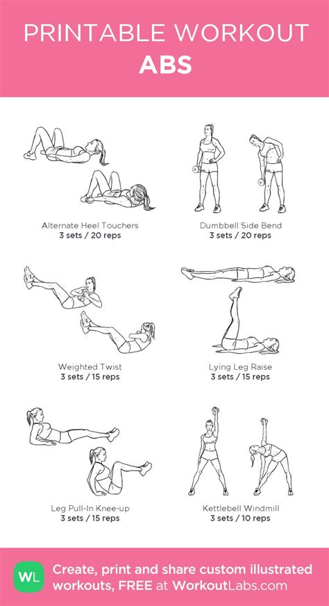 printable workout plan with pictures 17 best images about printable workout sheets on pinterest