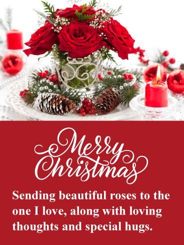 beautiful holiday roses romantic merry christmas card birthday greeting cards  davia