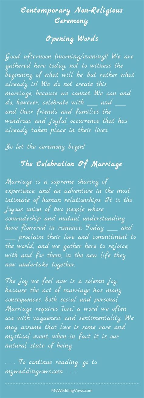 Wedding Blessing Before Civil Ceremony by Contemporary Non Religious Ceremony Wedding Weddings