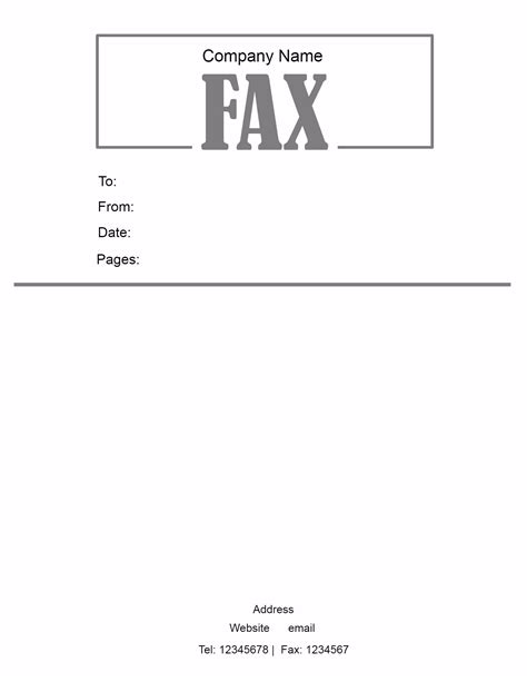 template for fax cover sheet free fax cover letter template