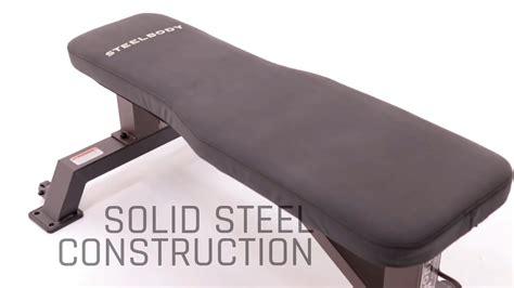 basic workout bench steelbody stb 10101 flat bench basic exercise youtube