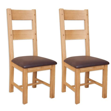 Perth Dining Chairs Buy Perth Oak Dining Chair Pair Cfs Uk