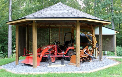 Building A Tractor Shed by Project Octagonal Tractor Shed