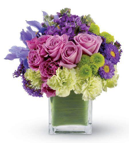 Vas Bunga Square Glass Vase flower cluster arrangement los angeles ca florist