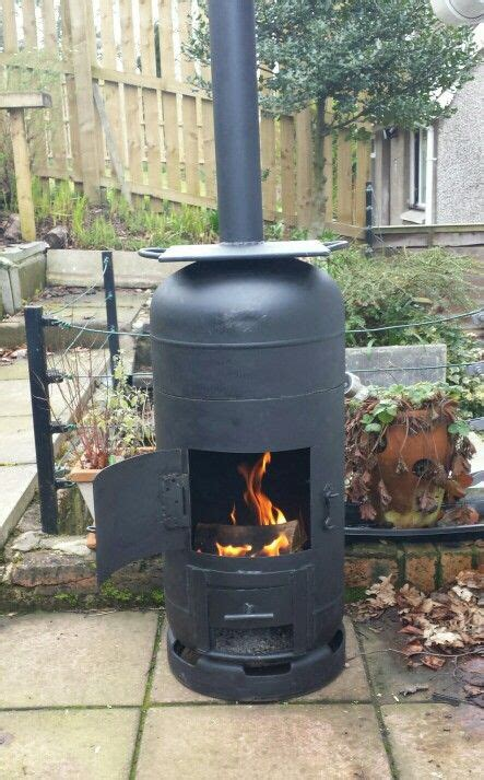 gas bottle chiminea plans robert s finally finished his bespoke gas bottle
