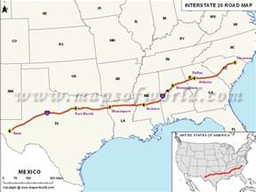 us map interstate 10 images