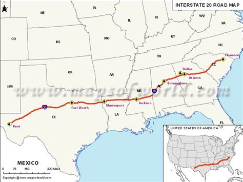 map us route 20 usa interstate 20 map