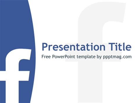 free facebook powerpoint template pptmag