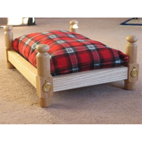 wood dog beds classic ash wooden pet bed