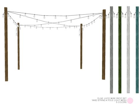 yard string lights yard string 4 pole light mesh by dot of the sims resource