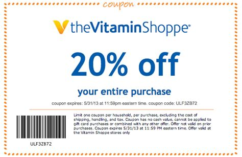 vitamin shoppe coupons top deal 10 off promo codes vitamin shoppe 20 off printable coupon