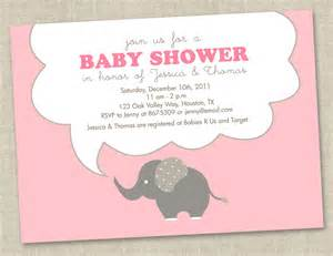 pink elephant baby shower invitations baby by miragreetings