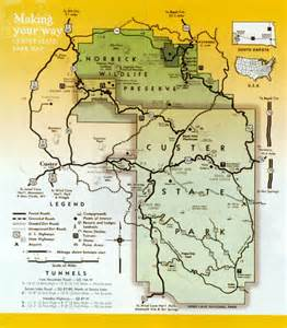 Custer State Park Map by Map Of Custer State Park Area Pictures To Pin On Pinterest