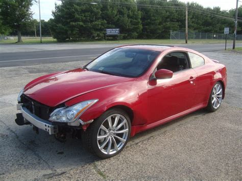 Infiniti G37s 2008 For Sale 2008 Infiniti G37s Coupe Rebuildable Repairable For Sale