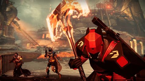 Battle For Destiny the flaming battle axe in destiny rise of iron is big