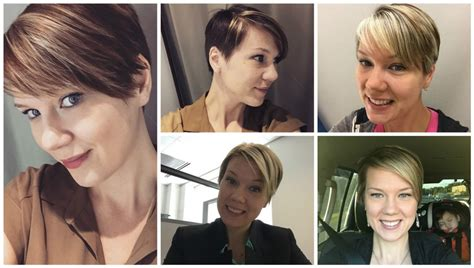 hair styles while growing into a bob growing out pixie hair cut