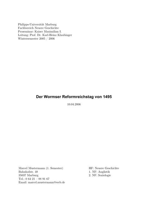 Vorlage Word Hausarbeit Jura Das Deckblatt Der Hausarbeit I Wissenschaftliches Arbeiten Org